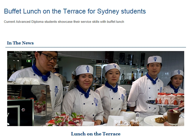 Buffet Lunch on the Terrace for Sydney students.jpg